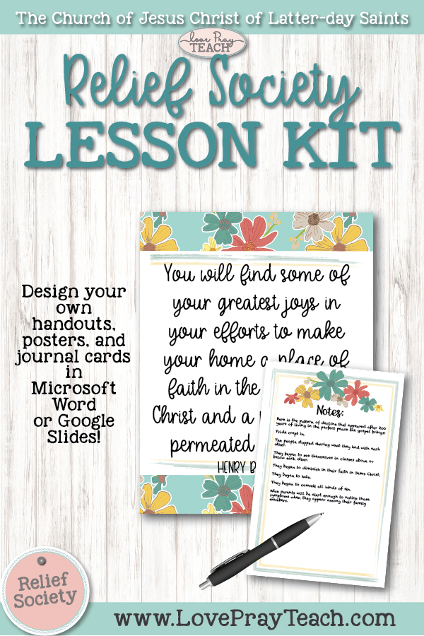 Relief Society Blank Lesson Kit: Daisy
