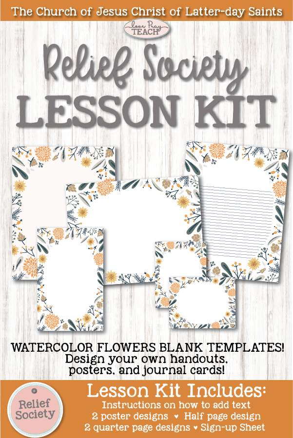Feeling Fall: Relief Society Blank Lesson Kit