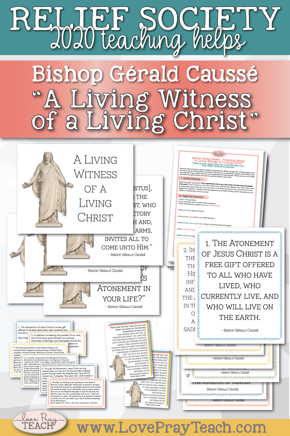"April 2020 General Conference: Bishop Gérald Caussé - ""A Living Witness of a Living Christ"" Printable Lesson Helps and Handouts for Latter-day Saints"