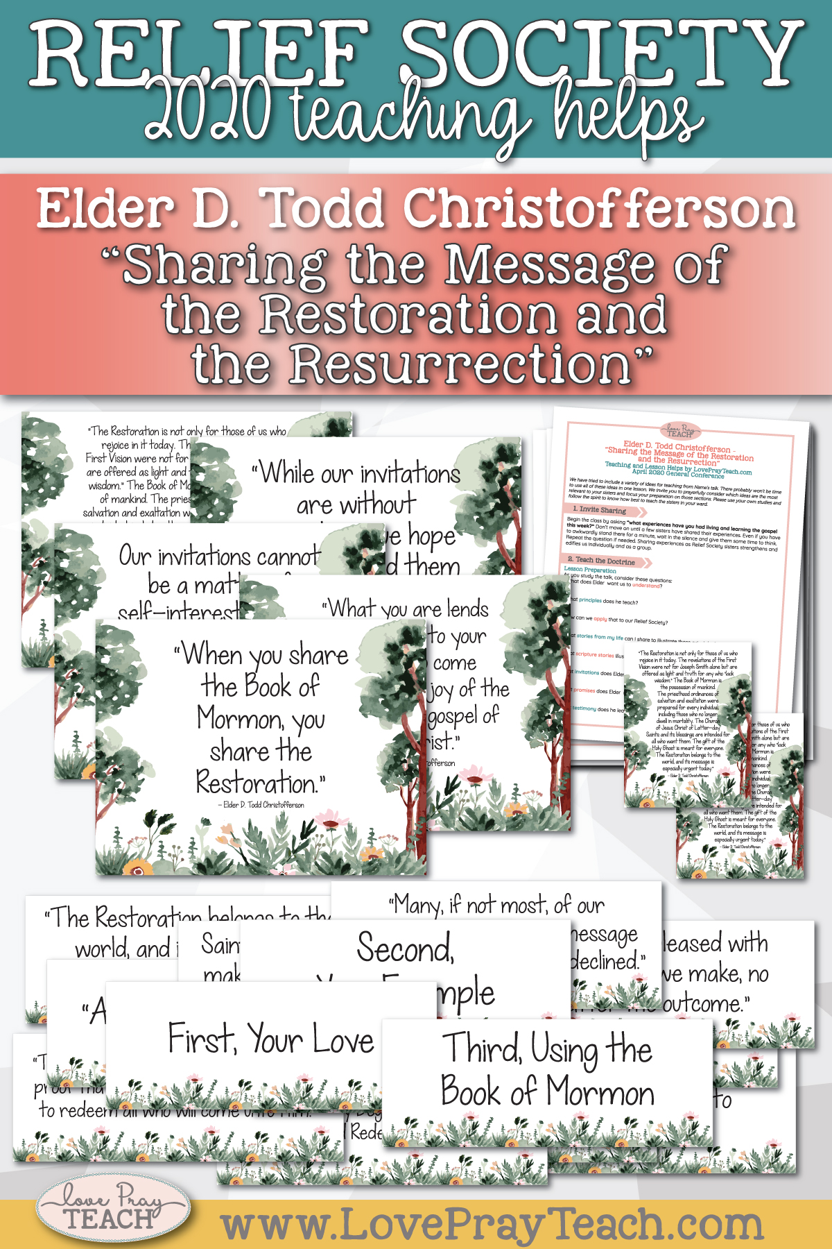 "April 2020 General Conference: Elder D. Todd Christofferson - ""Sharing the Message of the Restoration and the Resurrection"" Printable Lesson Helps and Handouts for Latter-day Saints"