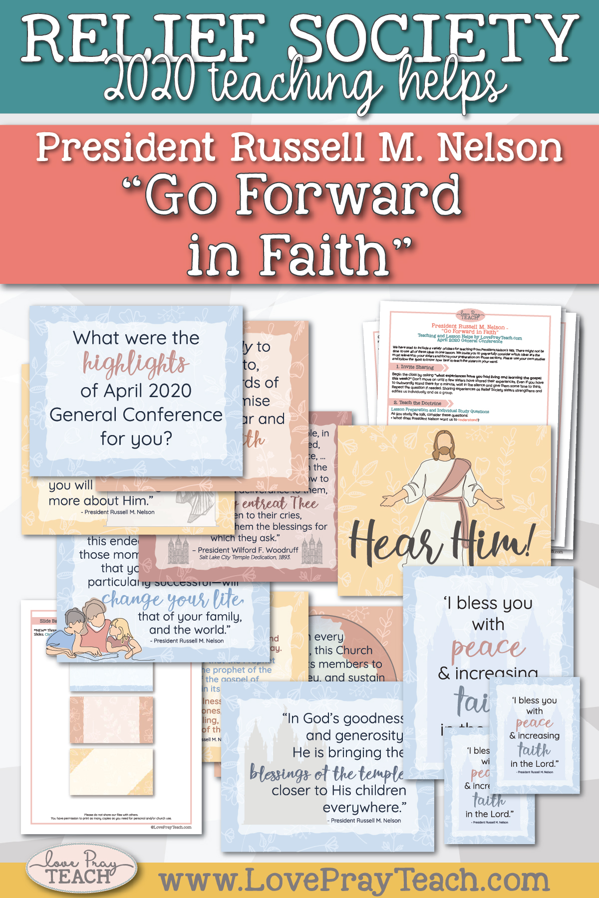 "April 2020 General Conference: President Russell M. Nelson - ""Go Forward in Faith"" Printable Lesson Helps and Handouts for Latter-day Saints"