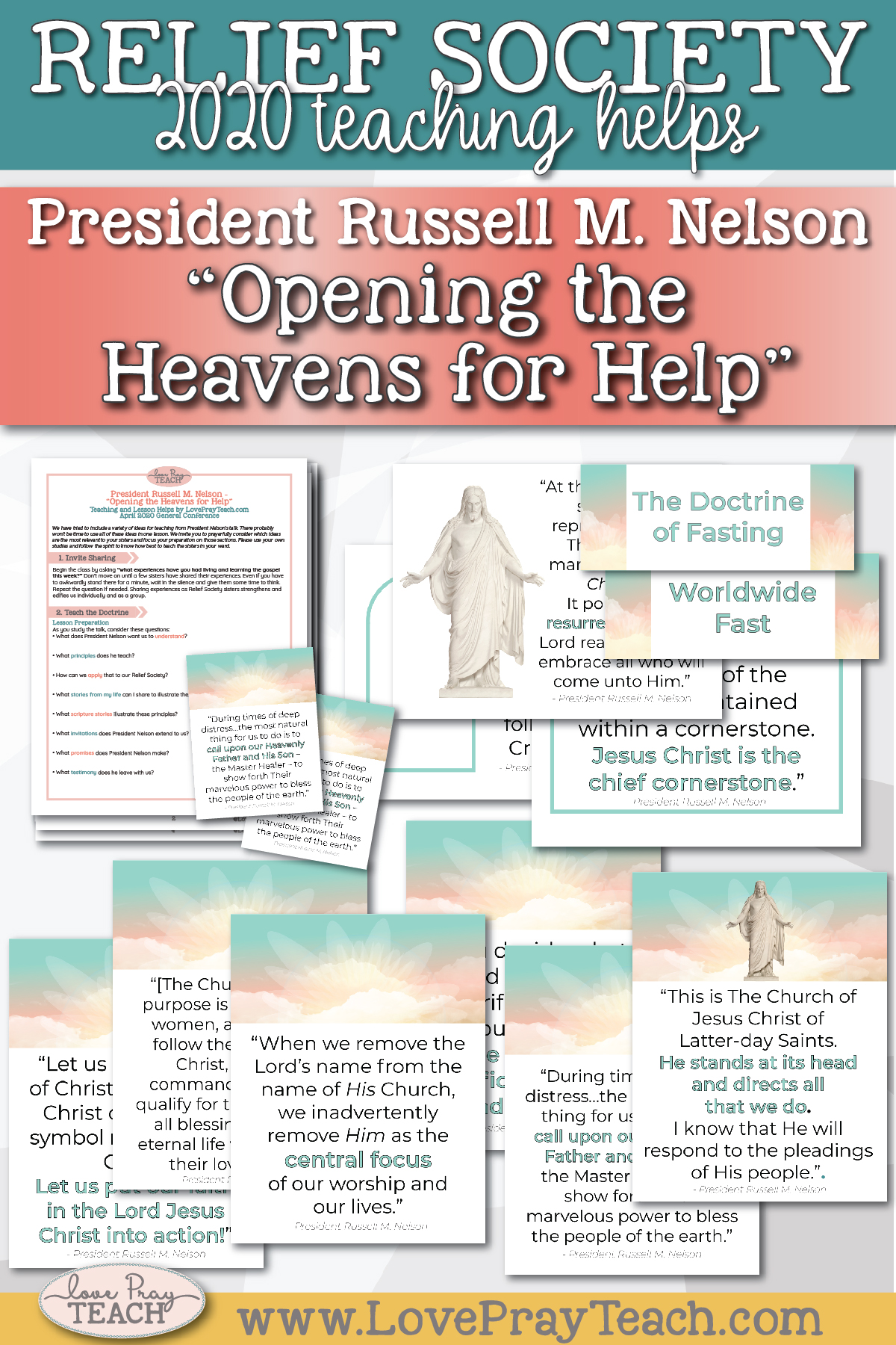 "April 2020 General Conference: President Russell M. Nelson - ""Opening the Heavens for Help"" Printable Lesson Helps and Handouts for Latter-day Saints"