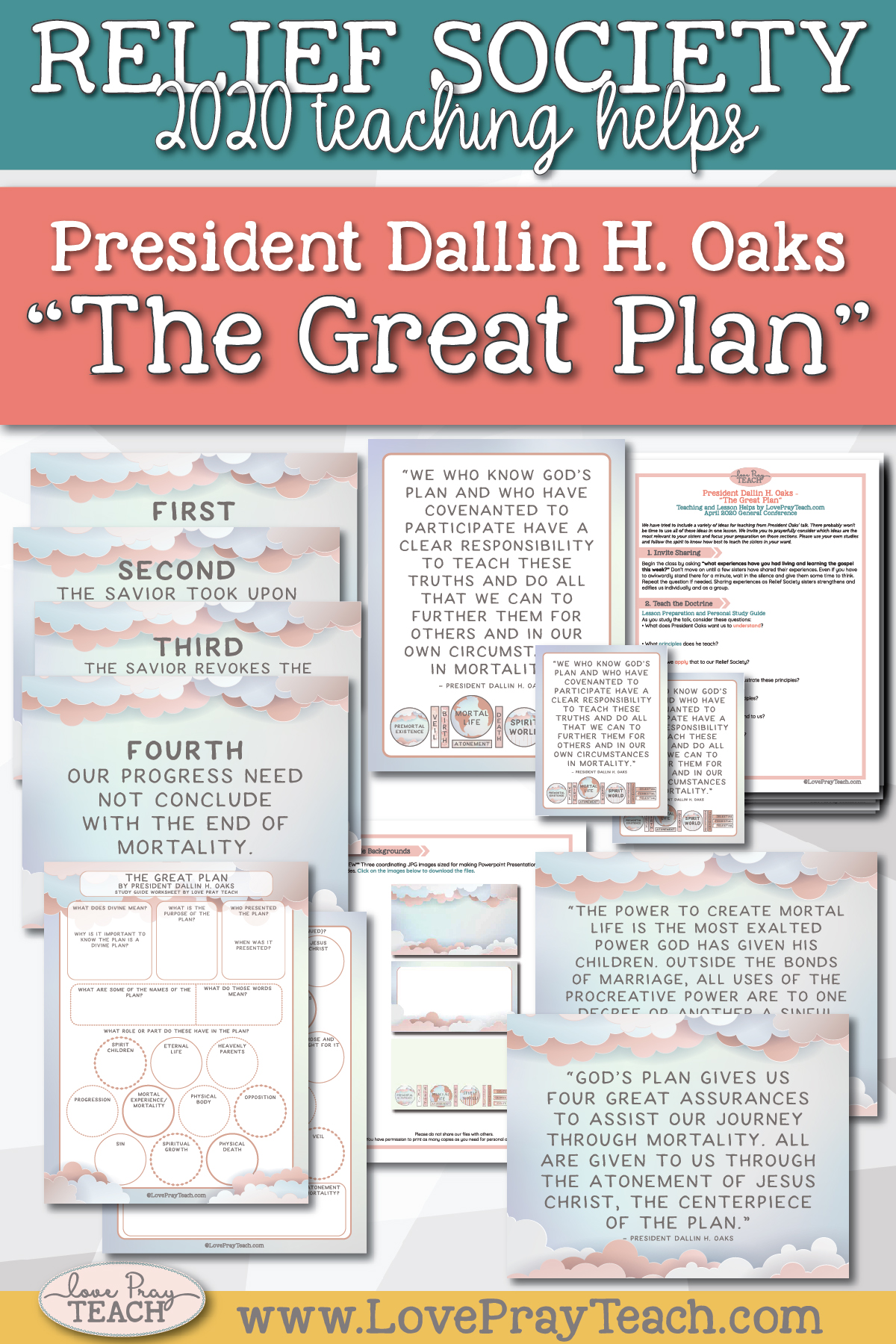 "April 2020 General Conference: President Dallin H. Oaks - ""The Great Plan"" Printable Lesson Helps and Handouts for Latter-day Saints"