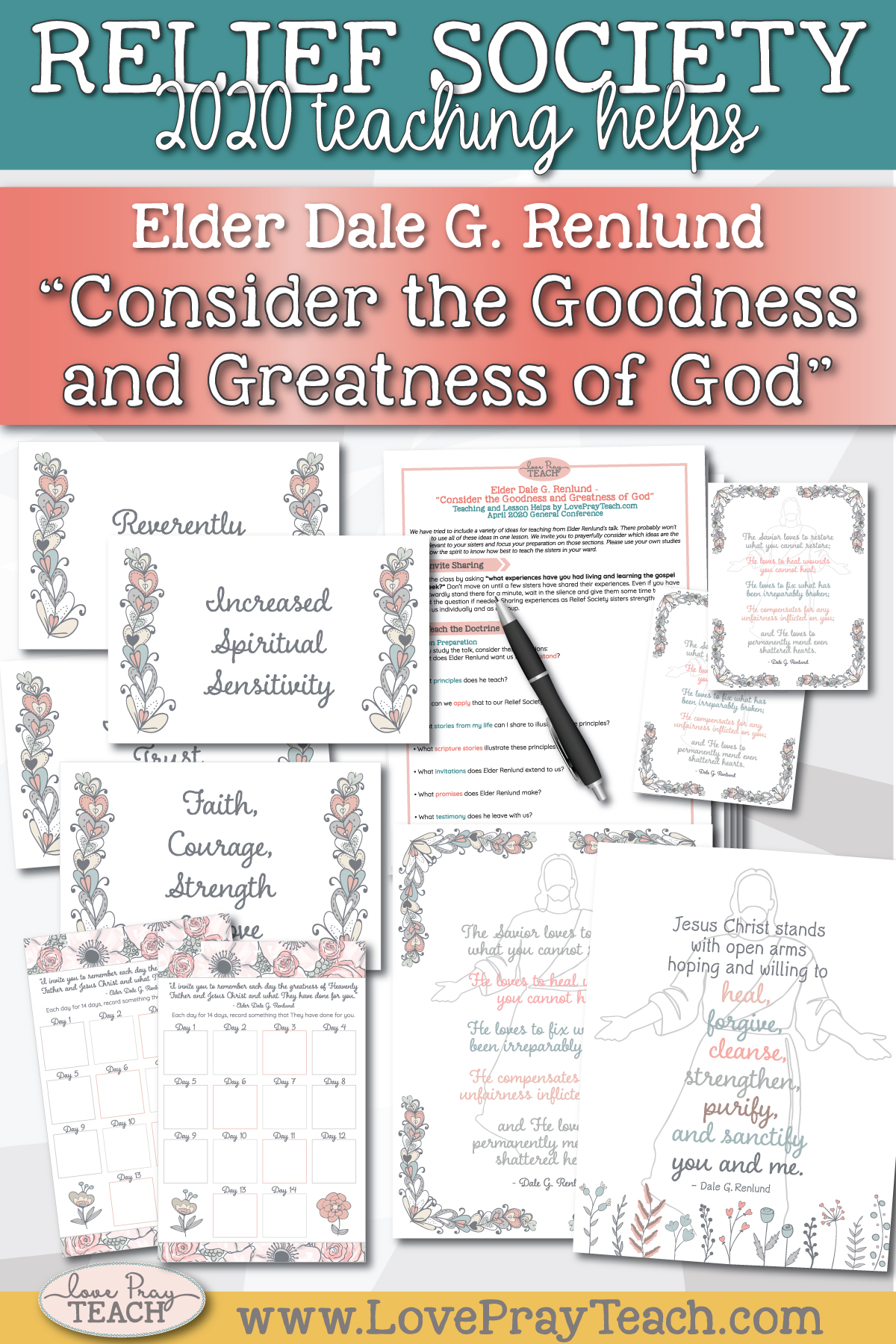 "April 2020 General Conference: Elder Dale G. Renlund - ""Consider the Goodness and Greatness of God"" Printable Lesson Helps and Handouts for Latter-day Saints"