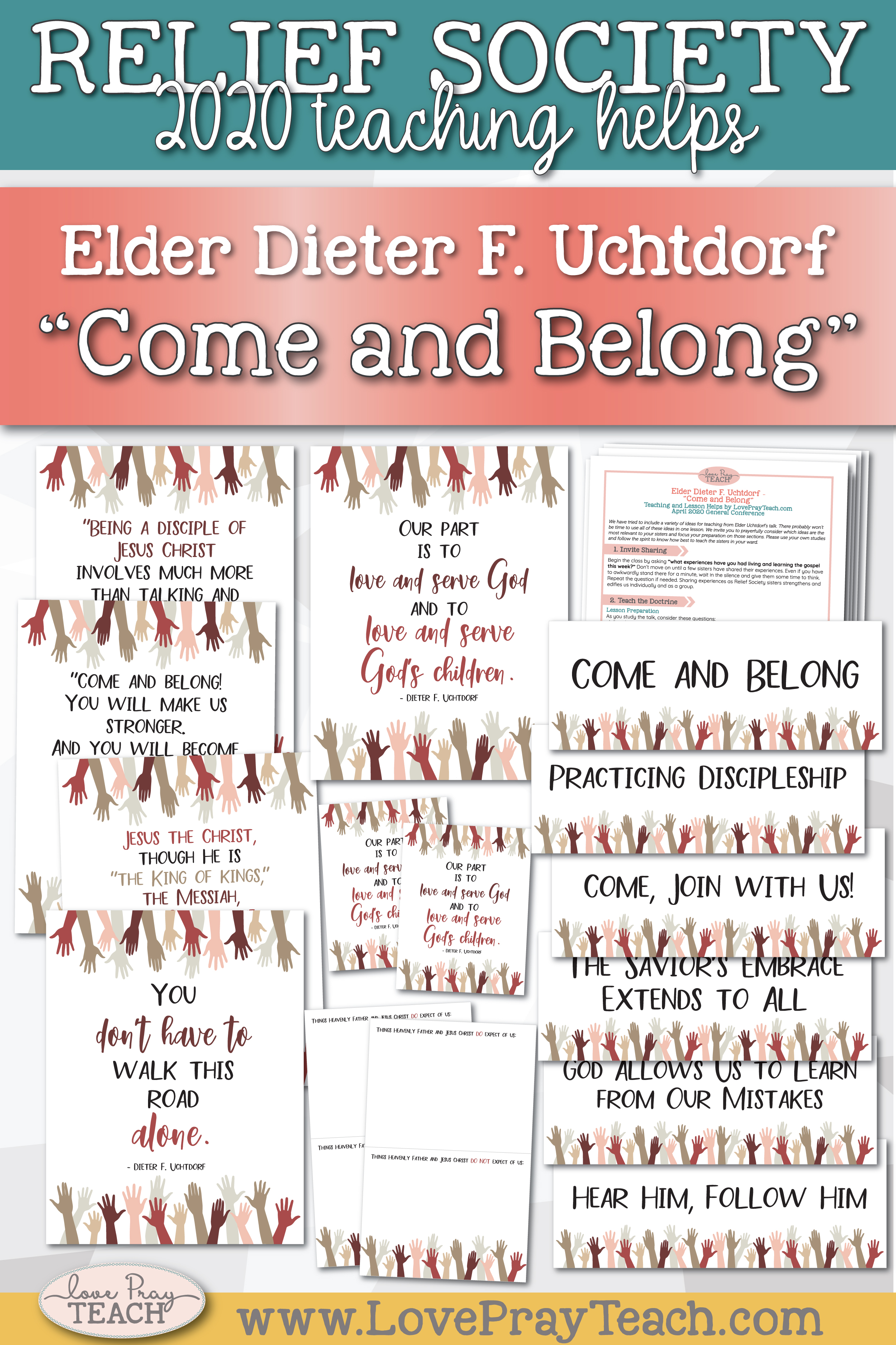 "April 2020 General Conference: Elder Dieter F. Uchtdorf - ""Come and Belong"" Printable Lesson Helps and Handouts for Latter-day Saints"