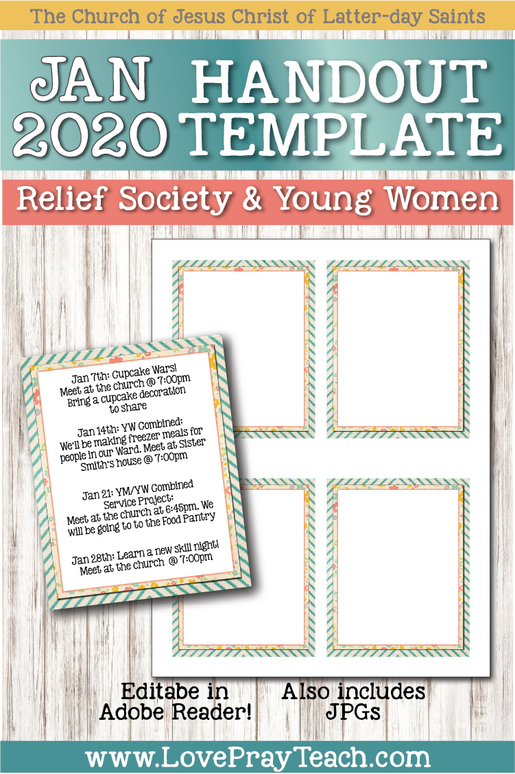 January 2020 Editable Newsletter Bundle www.LovePrayTeach.com