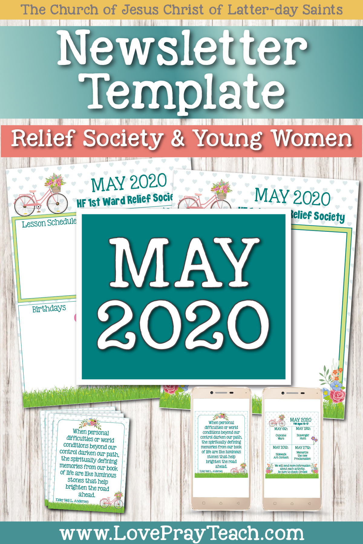 May 2020 Editable Newsletter Bundle www.LovePrayTeach.com