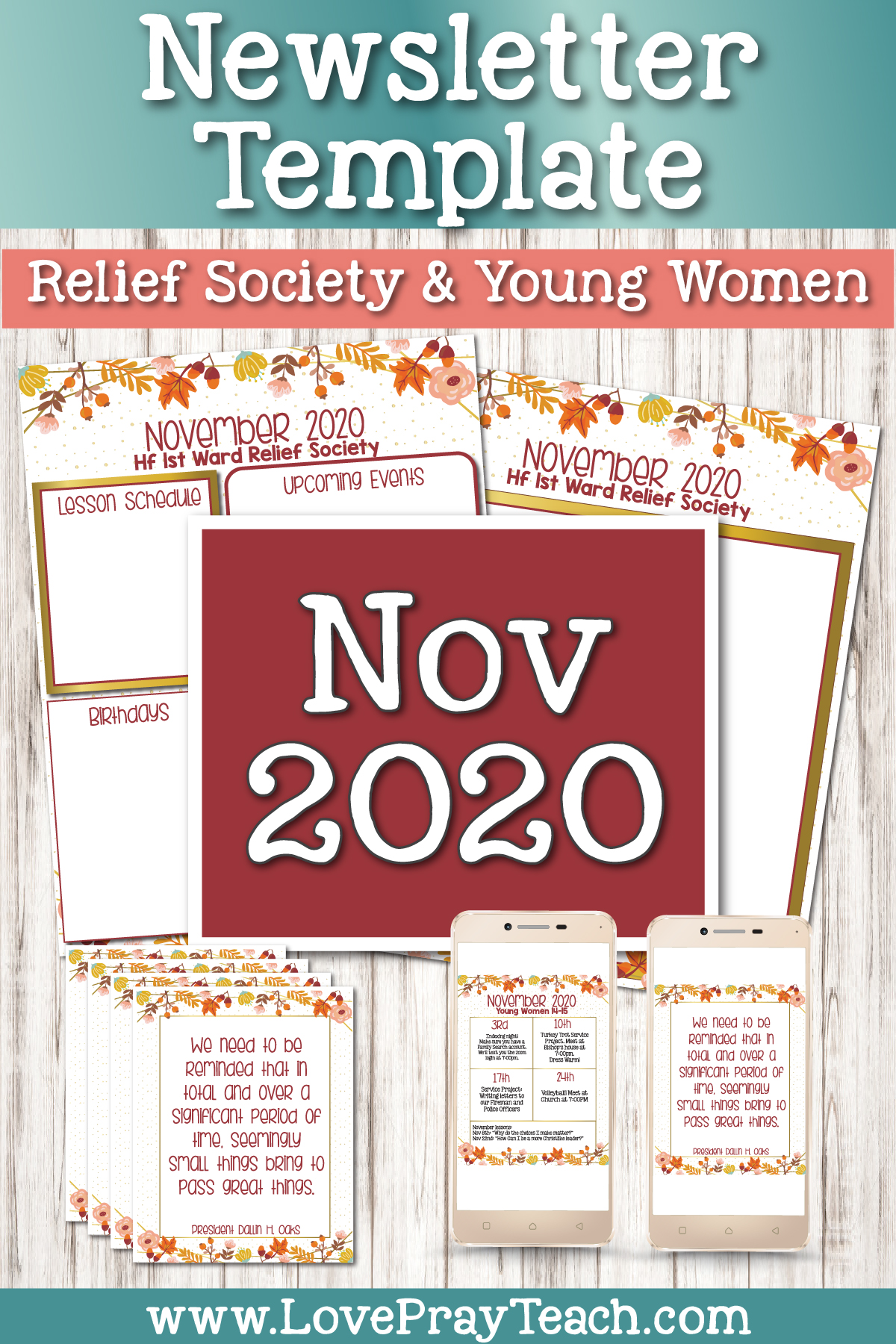 November 2020 Editable Newsletter Bundle www.LovePrayTeach.com