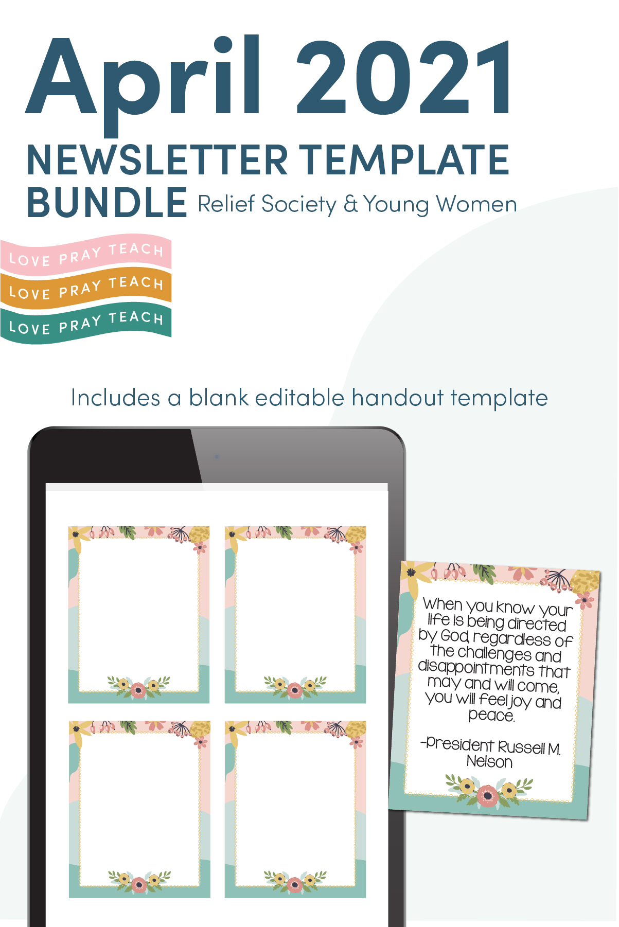 April 2021 Editable Newsletter Bundle