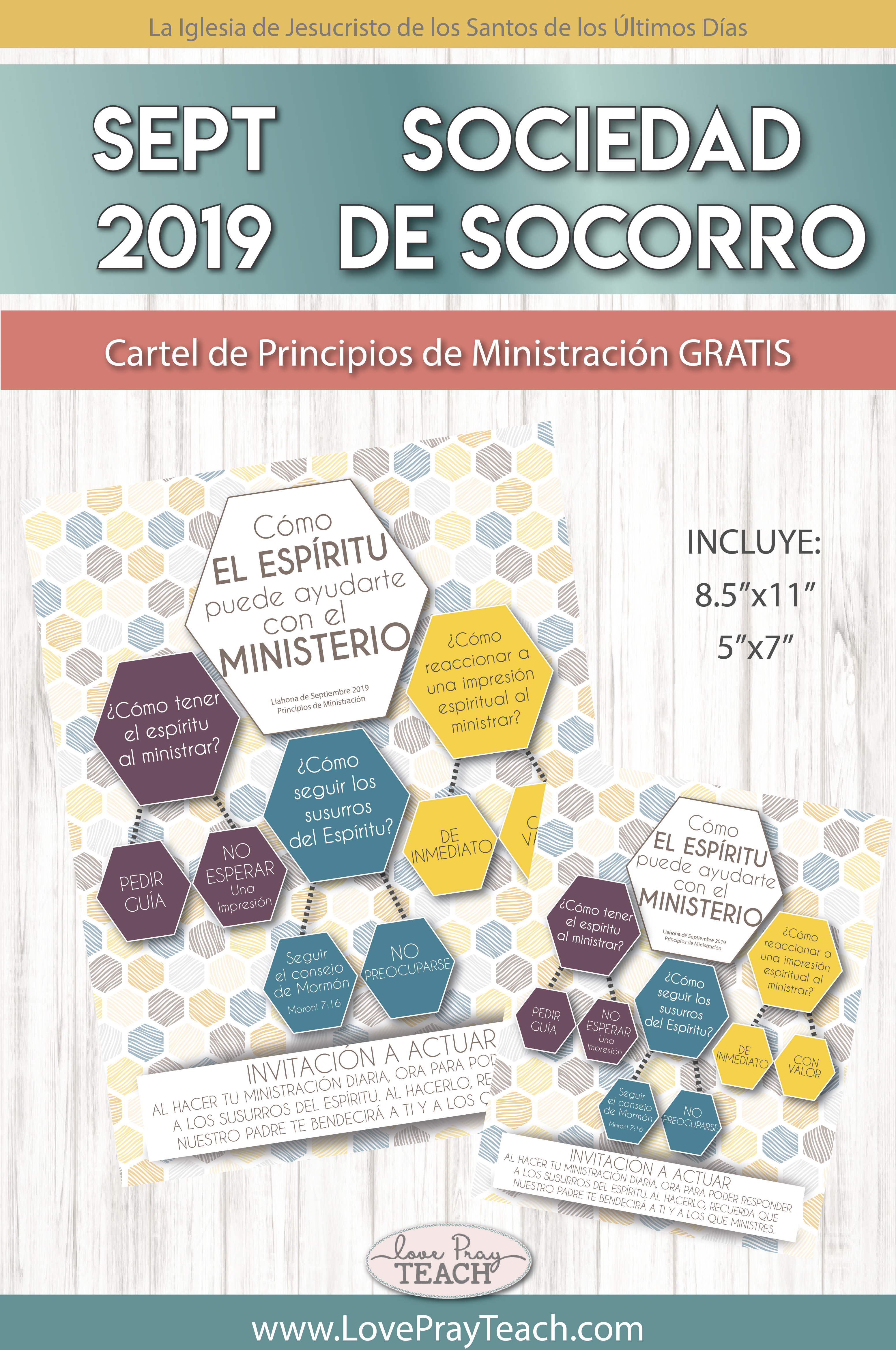 September 2019 Ministering Principles poster in Espanol! www.LovePrayTeach.com