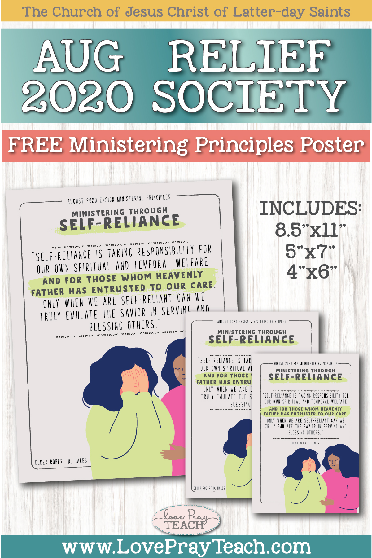 August 2020 Free Ministering Principles Poster and Handouts www.LovePrayTeach.com