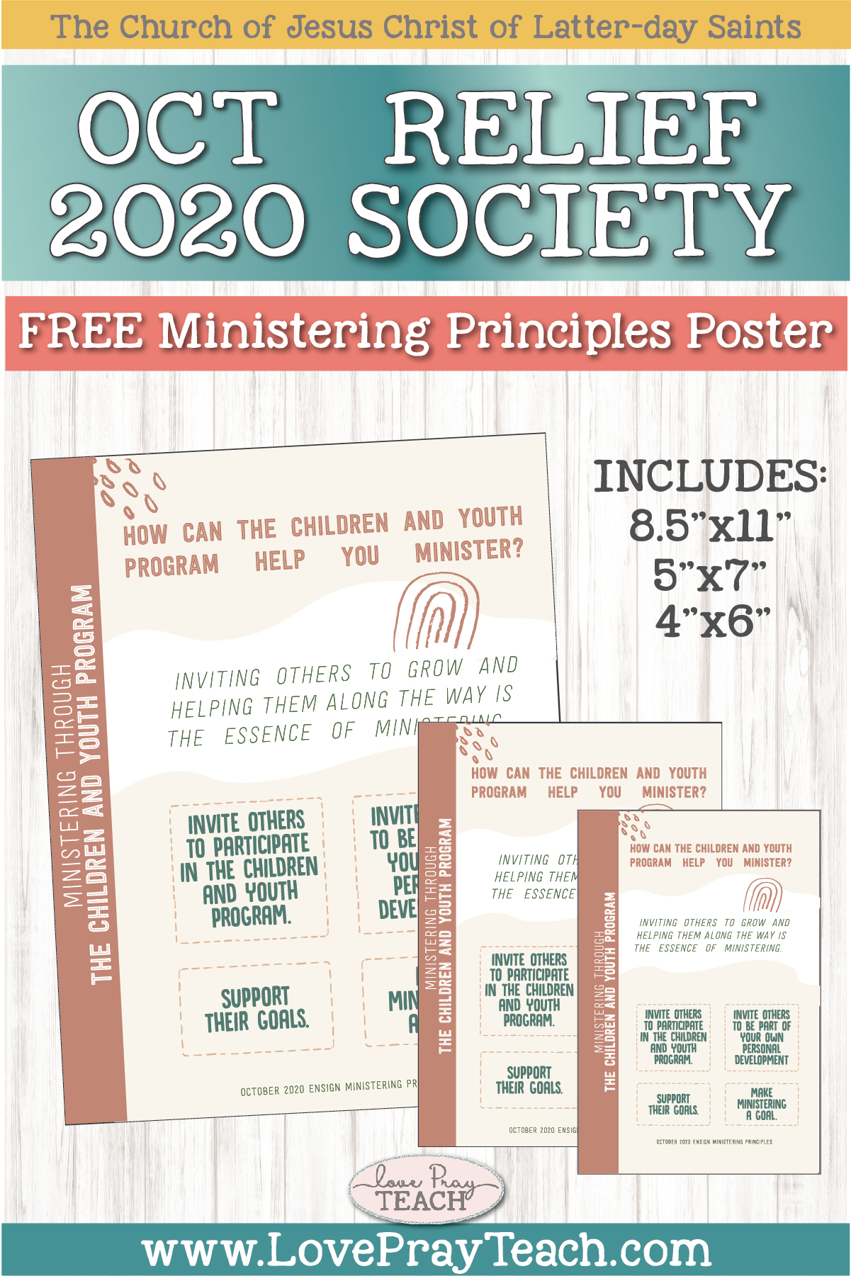 October 2020 Free Ministering Principles poster and handouts www.LovePrayTeach.com